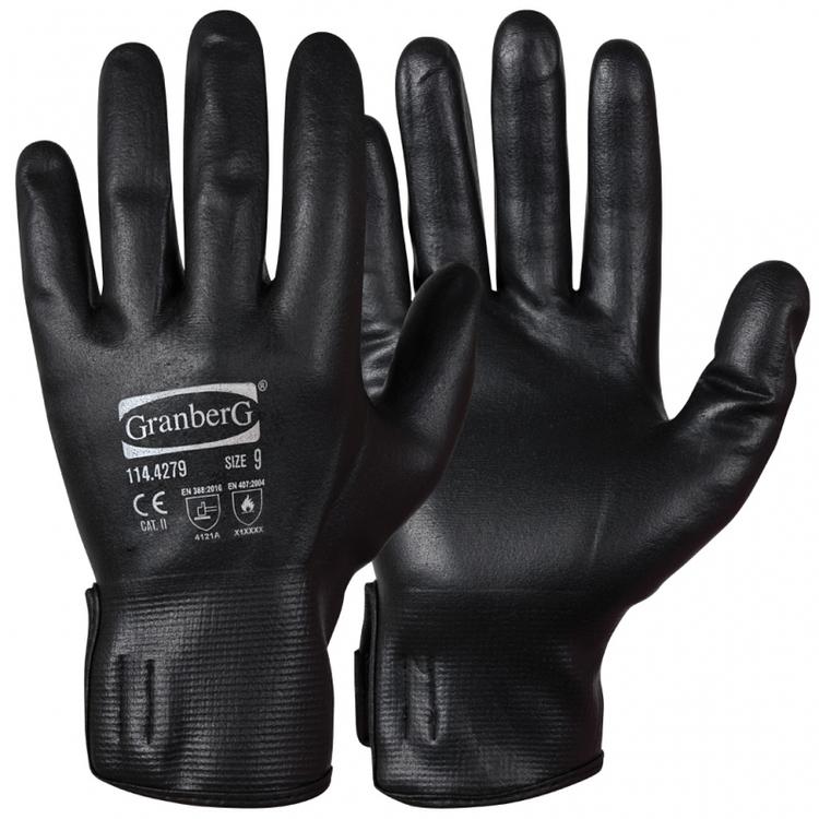Granberg® 12-pack montagehandskar helbelagda med mikroskum i nitril