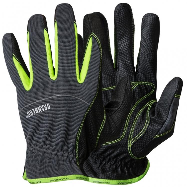 6-pack Montagehandskar EX® Bra greppmönster, förböjda fingrar och Touchfunktion