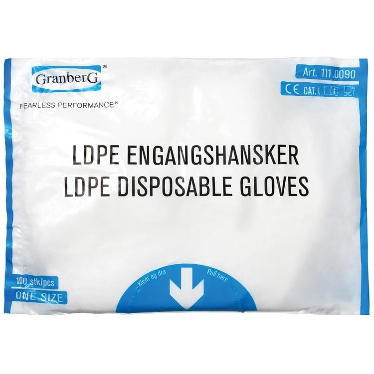 10 000-pack Engångshandskar LDPE, präglad yta