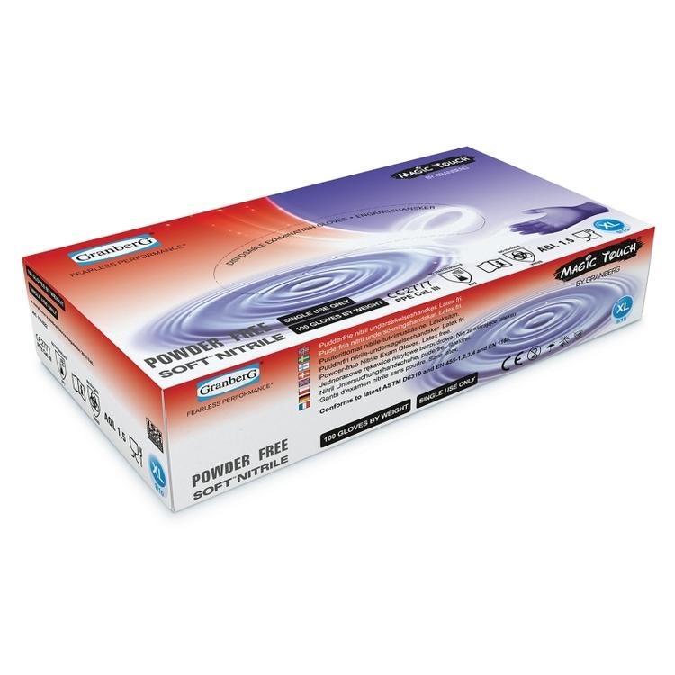 100-pack Granberg® engångshandskar i Soft Nitrile™, puderfria