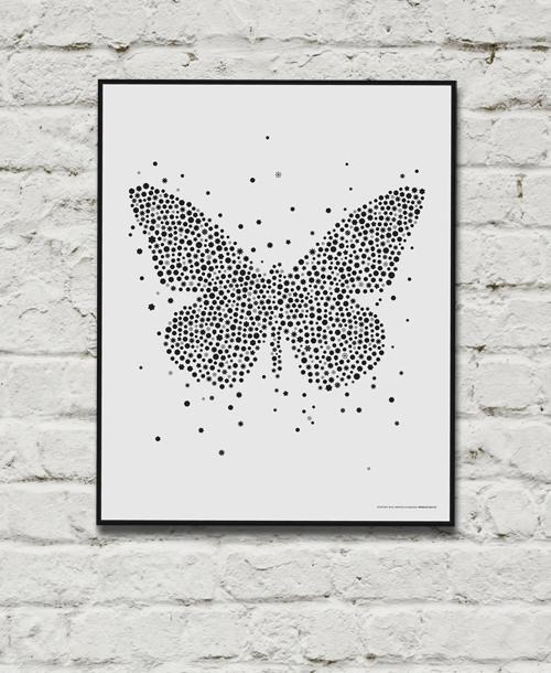Poster fjäril