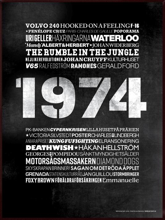 poster 1974, tavla