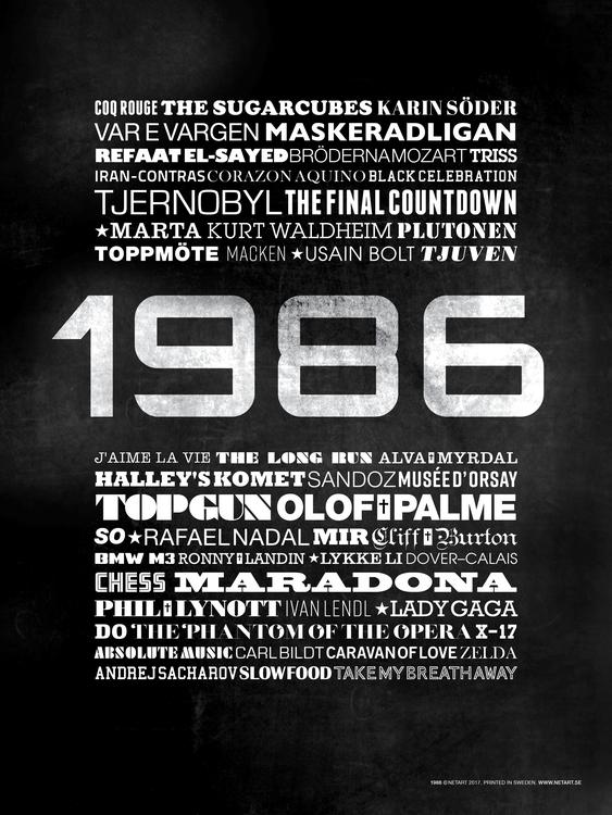 ÅRTALSPOSTER 1986