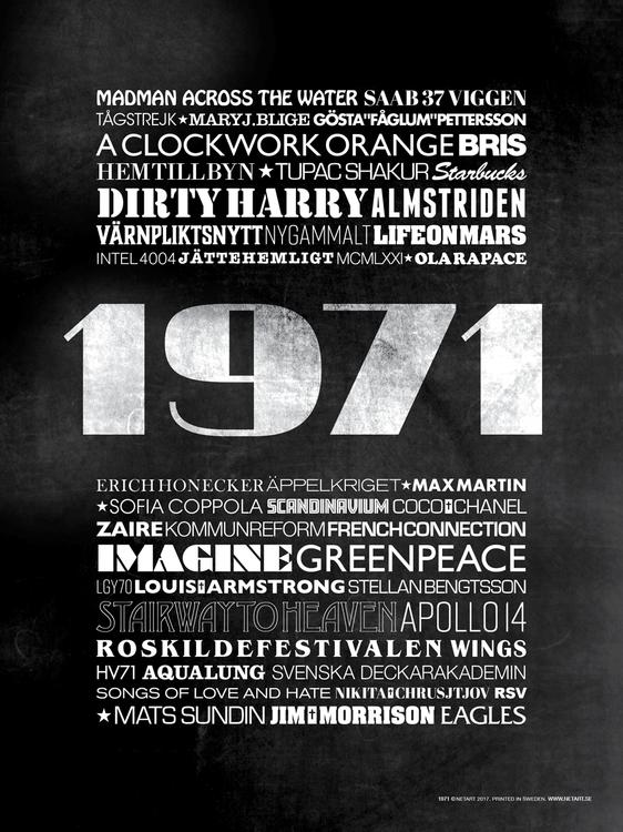 ÅRTALSPOSTER 1971