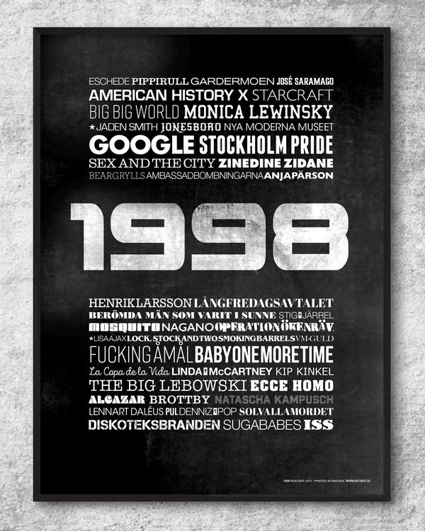 poster, tavla, 1998