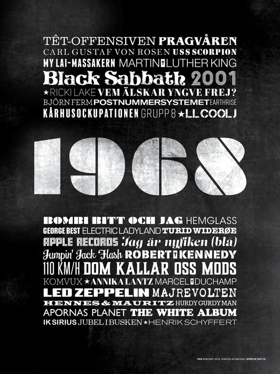 ÅRTALSPOSTER 1968