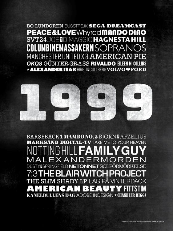 poster tavla 1999