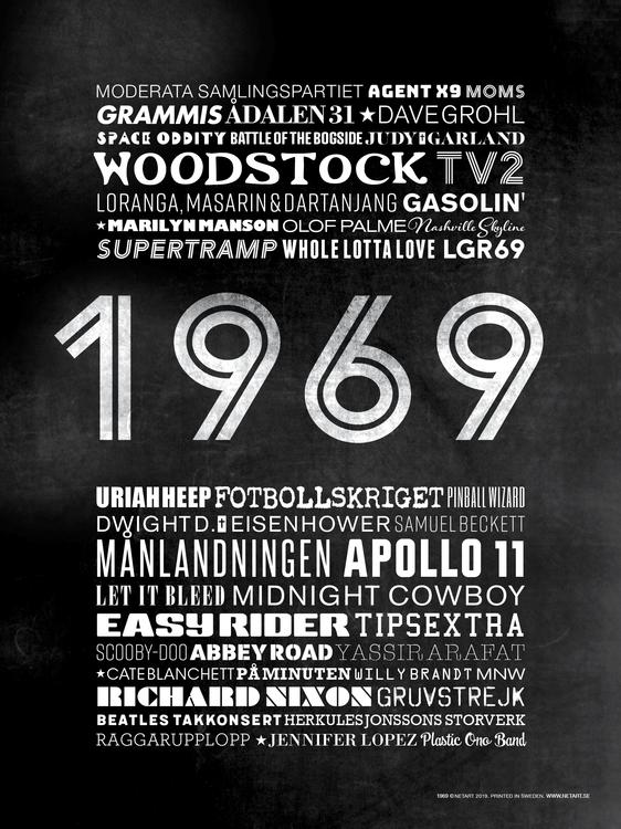ÅRTALSPOSTER 1969