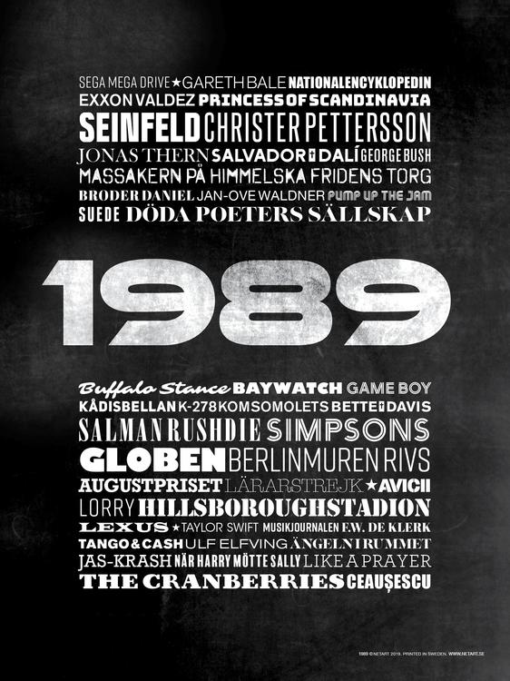 ÅRTALSPOSTER 1989