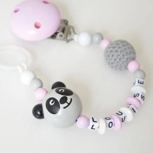 Napphållare - Rosa panda