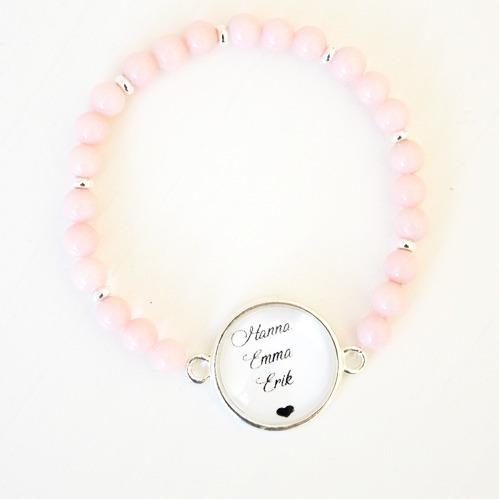 Rosa armband - Tillsammans