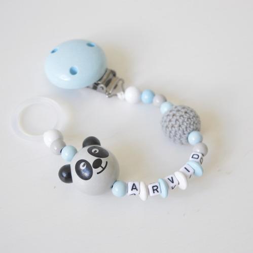 Napphållare - Blå panda