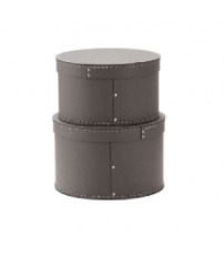 Rund förvaringsbox 2-pack grå