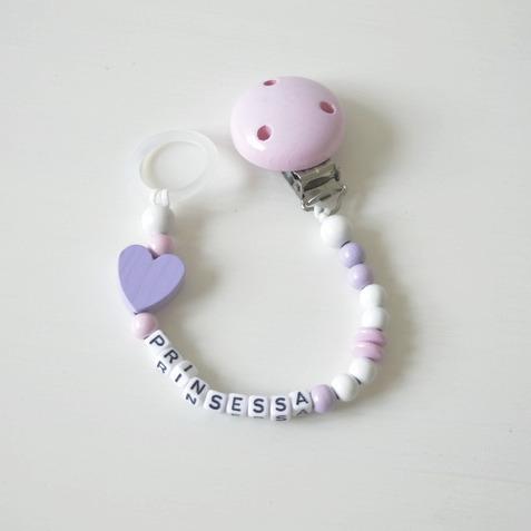 Napphållare- Lila hjärtat