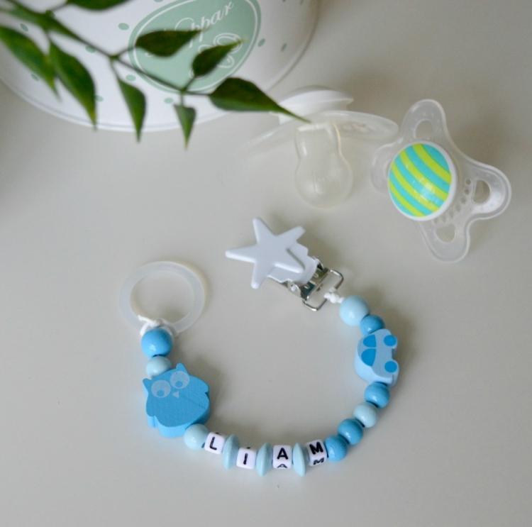 Napphållare- Blå lyxlirare
