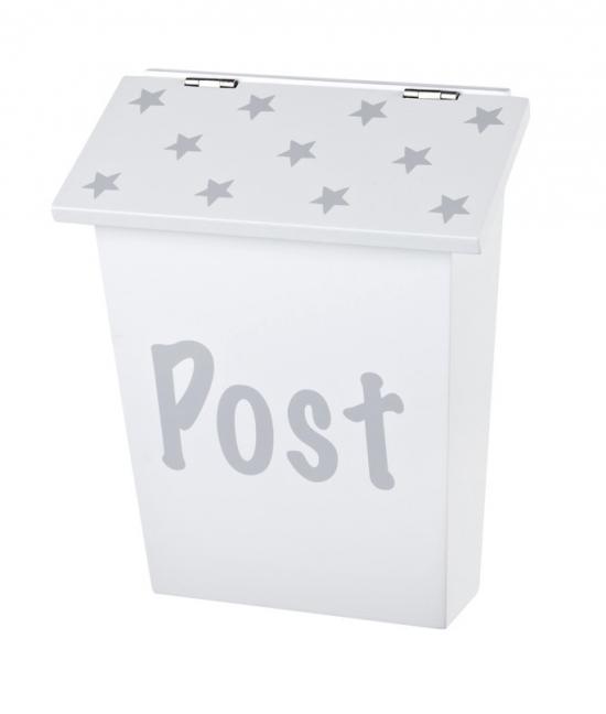 Postlåda - Grå/ Vit