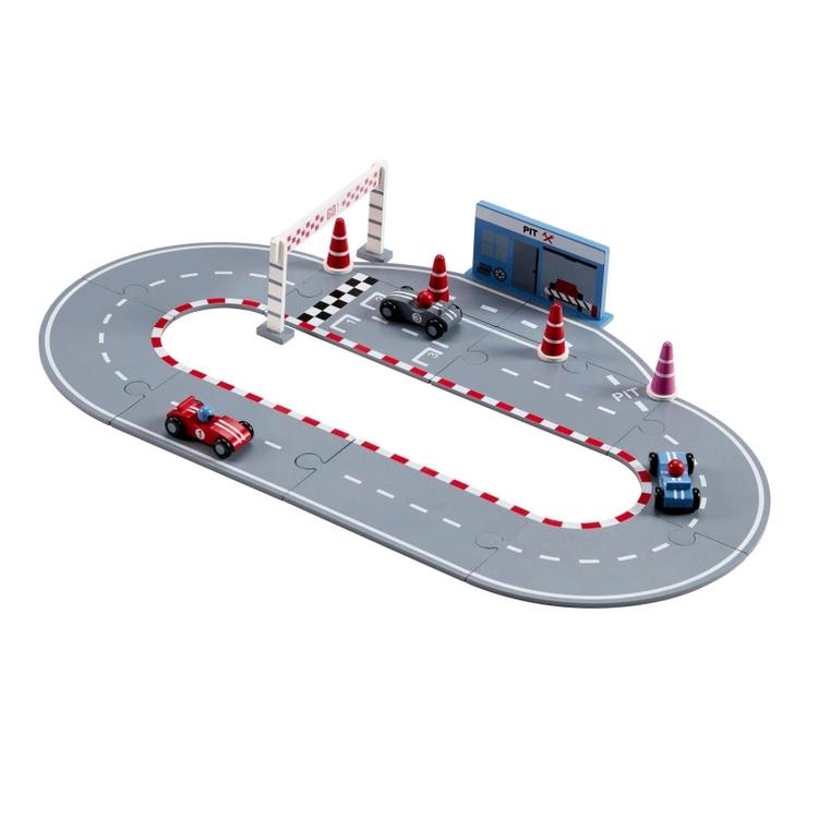 Kids Concept racerbana -  Blå