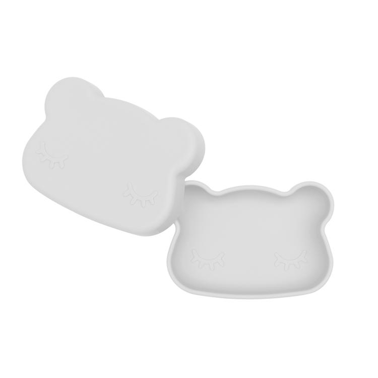 Matlåda i silikon - ljusgrå
