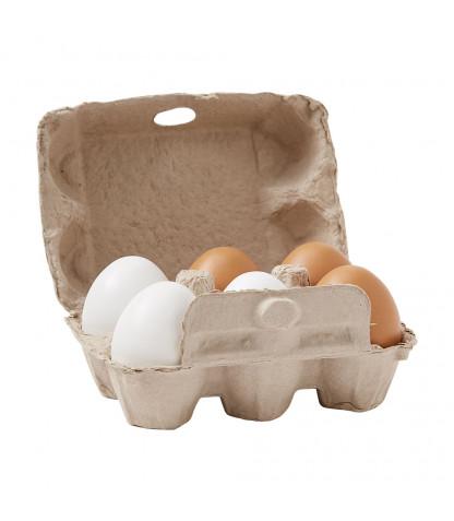 Ägg i kartong - Bruna & vita
