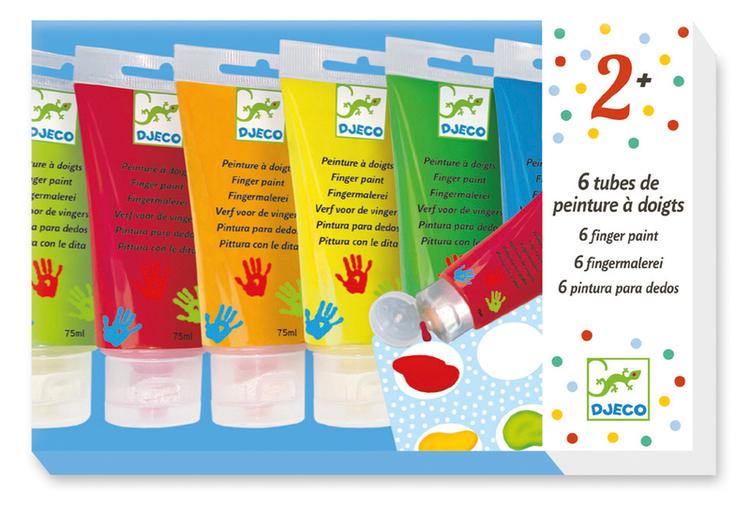 Fingerfärg 6-pack