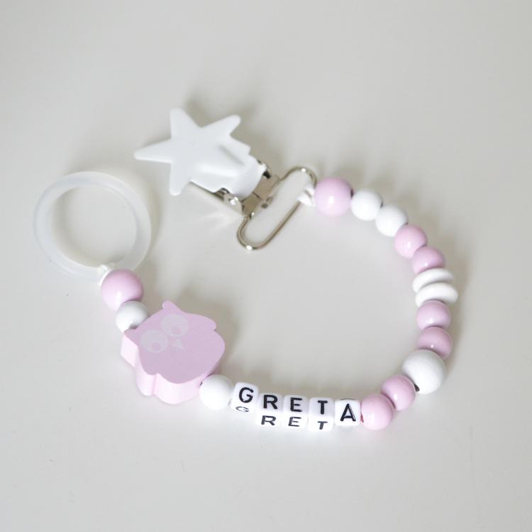 Napphållare- Ljusrosa Ugglisa