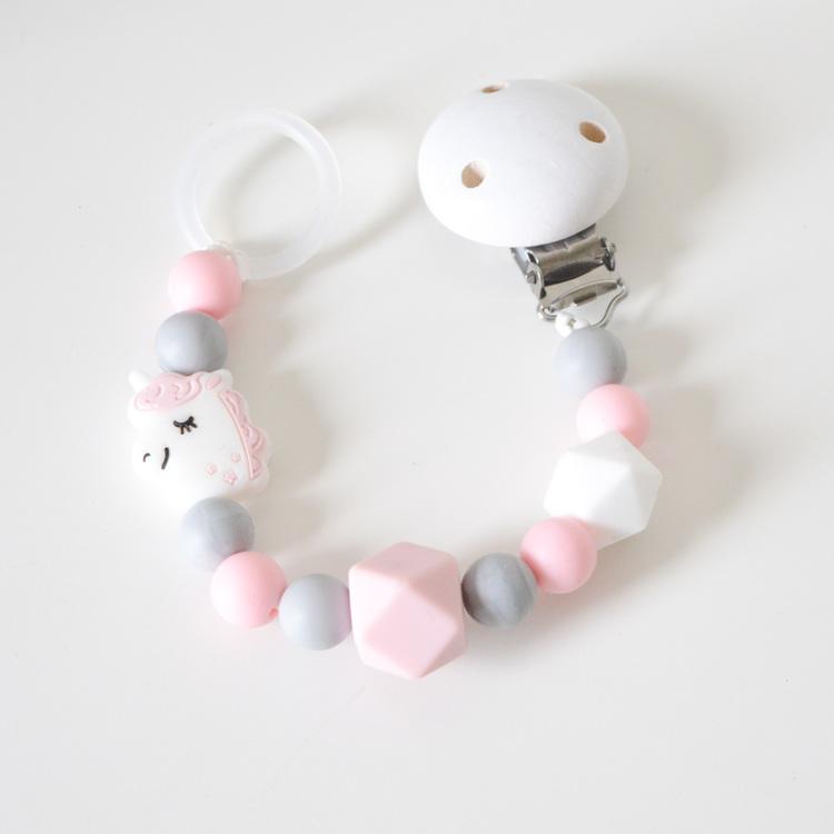 Napphållare i silikon - Rosa enhörning