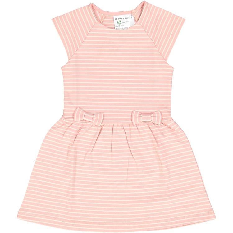Rosettklänning - Rosa/ Beige randig