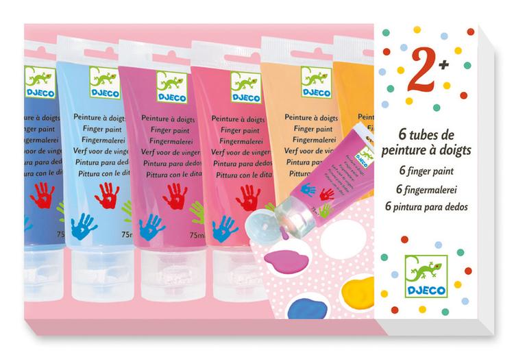 Fingerfärg  6-pack - Pastell