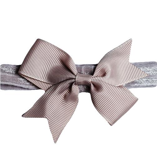 Hårband med rosett - Gammelrosa