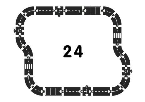 Motorväg i naturgummi - 24 delar