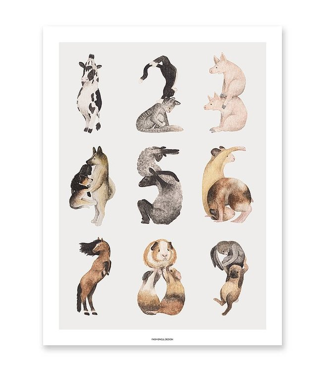 Poster - Djurens 123