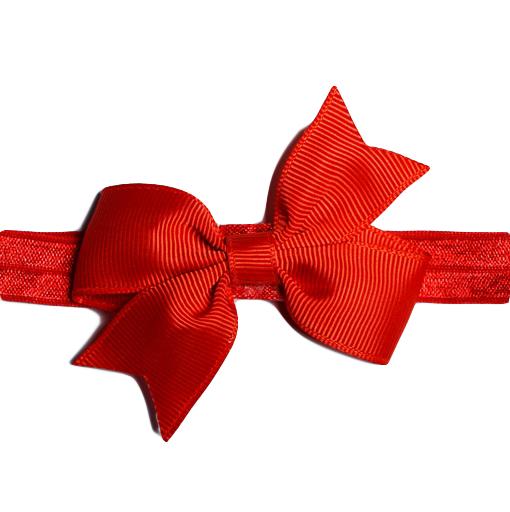 Hårband med rosett - Röd
