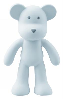 Bitleksak i naturgummi - Björnen blå Boo