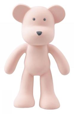 Bitleksak i naturgummi - Björnen rosa Boo