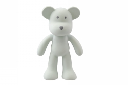 Bitleksak i naturgummi - Björnen grön Boo