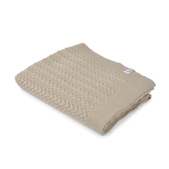 Stickad filt - Lace sand