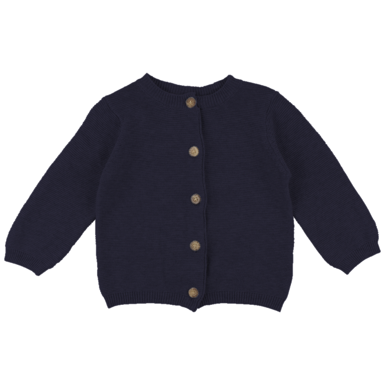 Stickad kofta - Marinblå