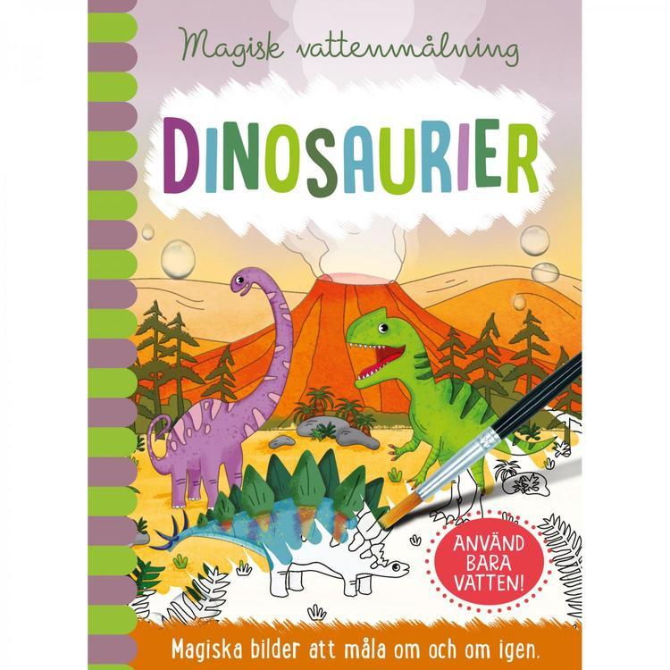 Vattenmålning - Dinosaurier