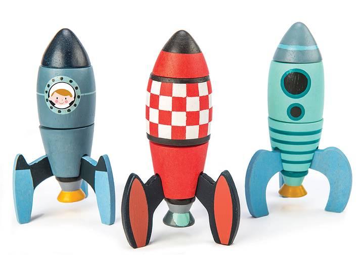 Stapelleksak - Raketer