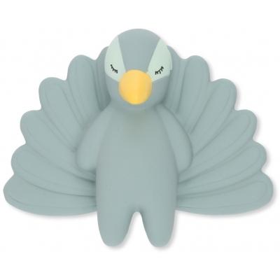 Bitleksak i naturgummi - Påfågel