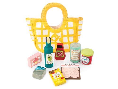 Väska med matvaror