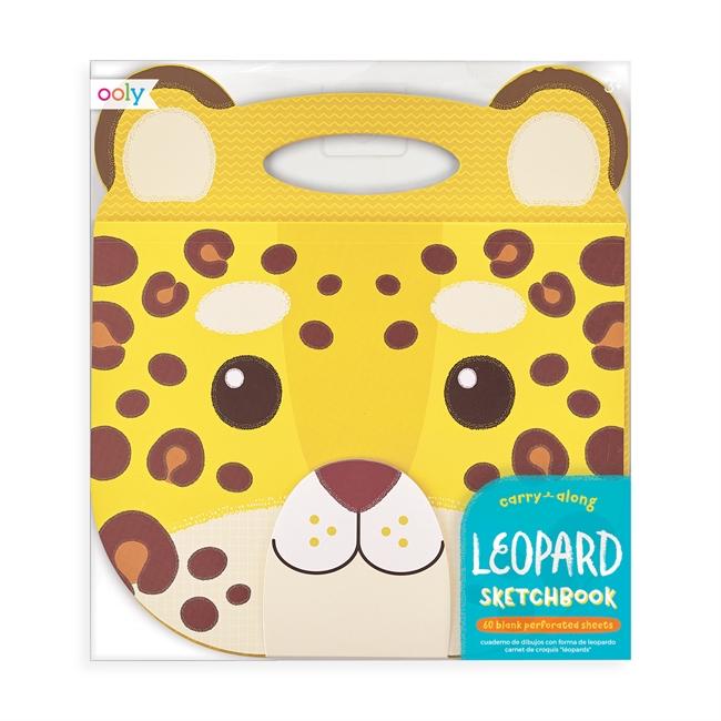 Målarbok med handtag - Leopard