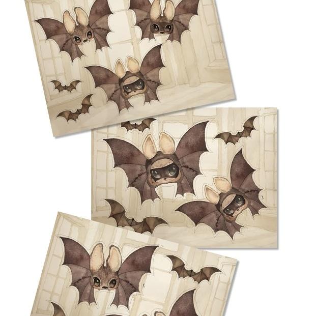 Paper friends - The bats