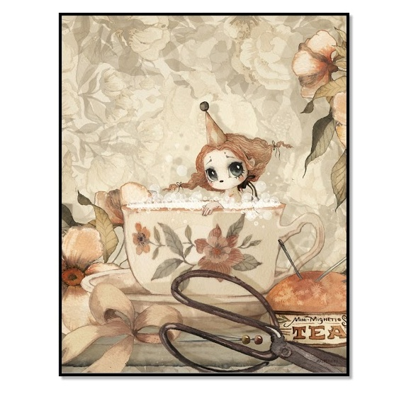 Poster 45*50 cm - The Tea bath