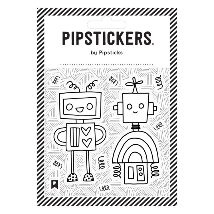 Fyll-i-stickers- Robot