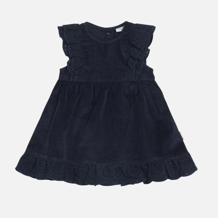 Klänning med spets - Marin