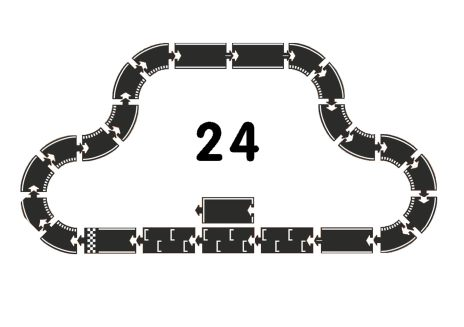 Racerbana i naturgummi - 24 delar
