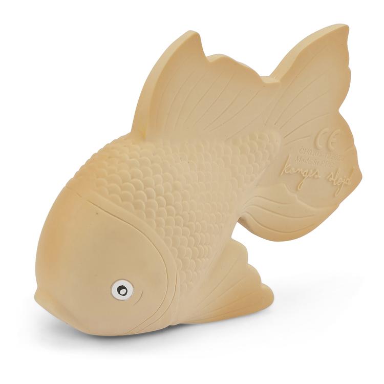 Bitleksak i naturgummi - Guldfisk