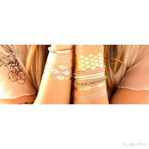 Fem ark body tattoo i slumpvis modell