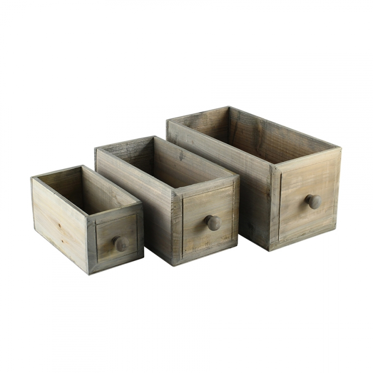 Set med 3 st trälådor (setpris)